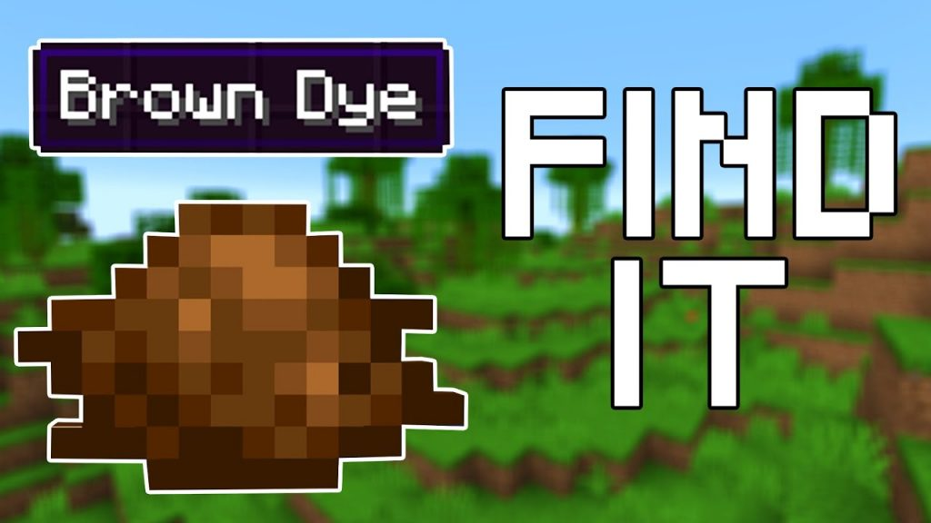 How to Get Brown Dye in Mincraft
