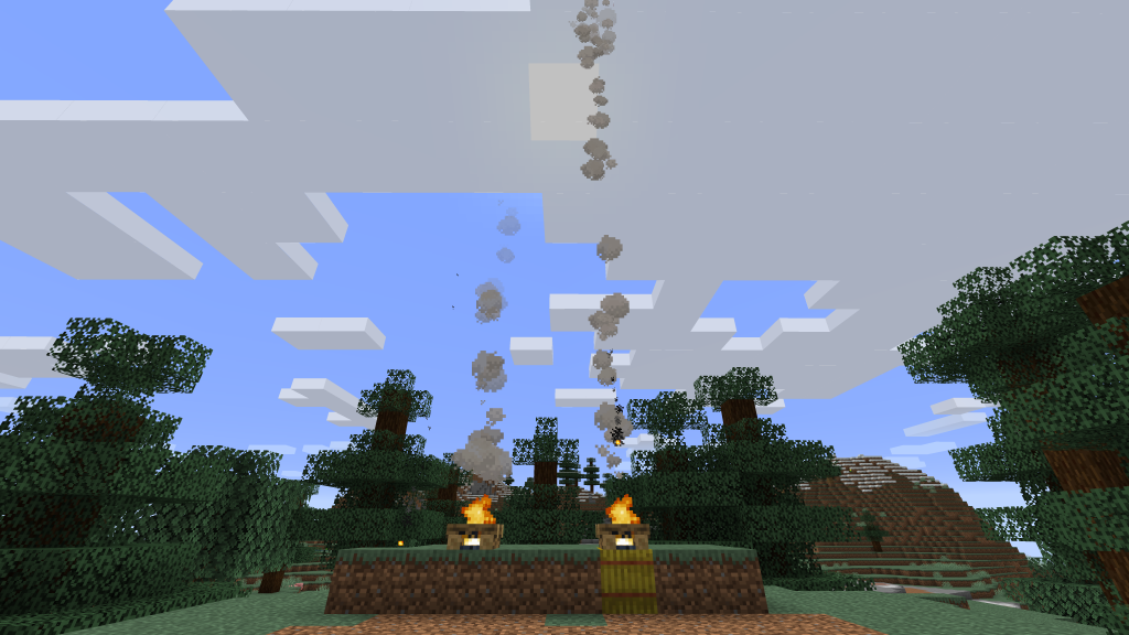 How to Make a Smoke in Minecraft