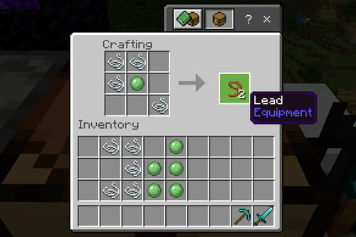 Make a Lead in Minecraft
