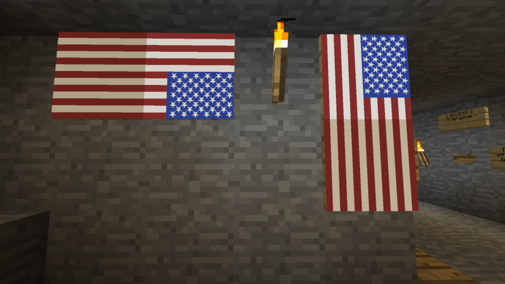 How to Make an American Flag Banner in Minecraft