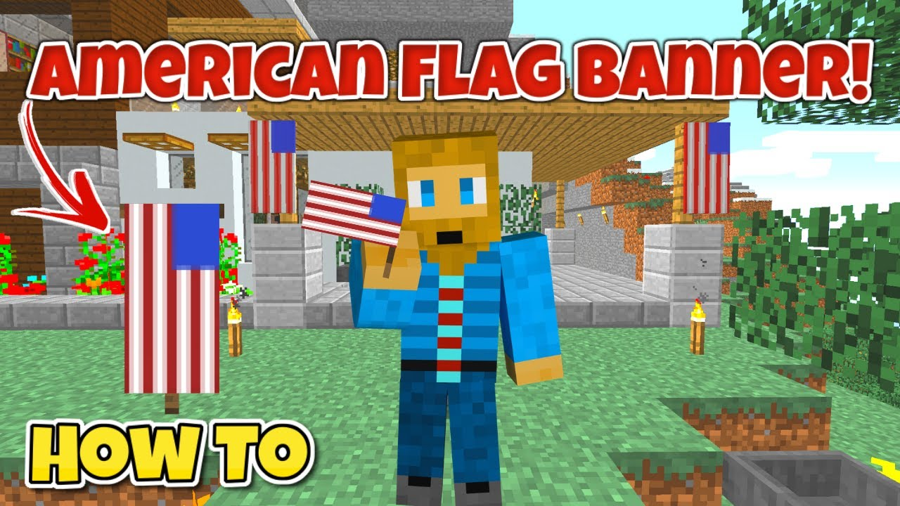 Make an American Flag Banner in Minecraft