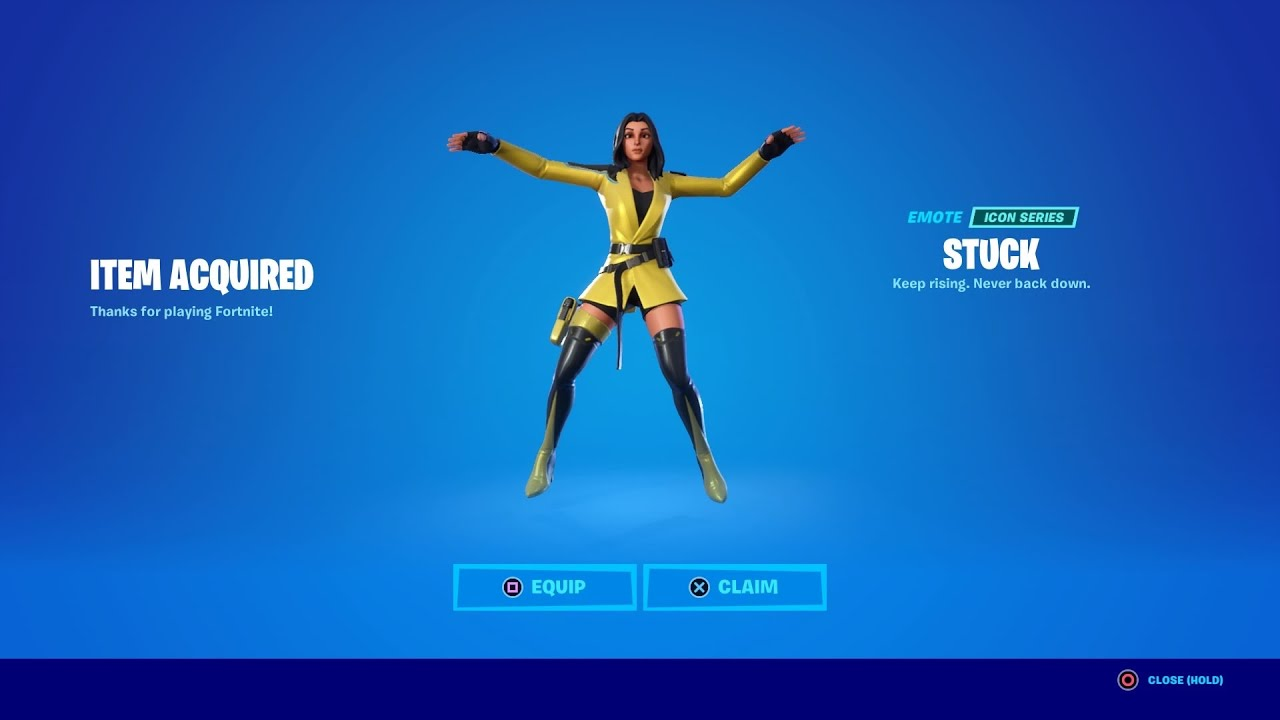 How To Get Stuck Emote For Free!